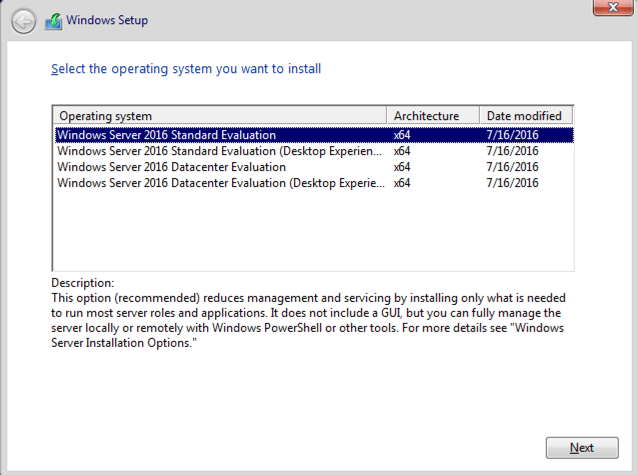 How to create an automated install for Windows Server 2016