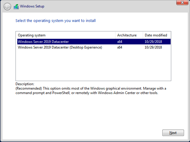 How to create an automated install for Windows Server 2019